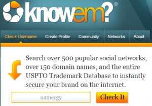 Use KnowEm.com to help name your business