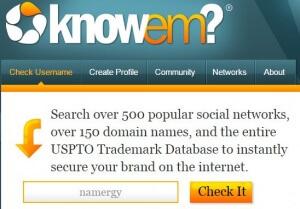 Use KnowEm.com to help name your business